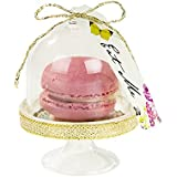 Talking Tables TSALICE-DOME Truly Alice Cloche à Gâteau Curieuse Carton Multicolore 8 x 6 x 8 cm Lot de 6