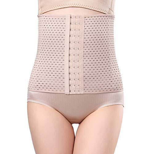 IZHH Damen Shapewear Bauch Kunststoff Taille Korsett Körperformung Kleidung Einfarbig Dünne Taille Postpartum Körperformung Unterwäsche Braun M