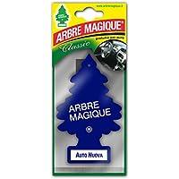 Arbre Magique Mono, Deodorante Auto, Fragranza Auto Nuova, a Base di Pura Cellulosa, Profumazione Prolungata per 7 Settimane