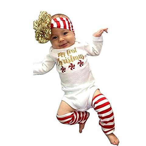 Sakure nouveau-né enfants bébé garçon fille Infant manches longues Barboteuse Chaussettes Bandeau JumpSuit Body Ensemble Vêtement de Pull