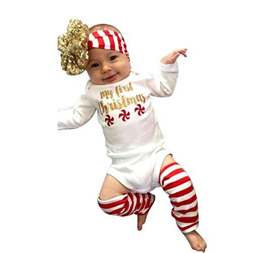 Neugeboren Overall, Zolimx Kinder Baby Mädchen Spielanzug Bodysuit Kleidung Satz (90/12M, Weiß)