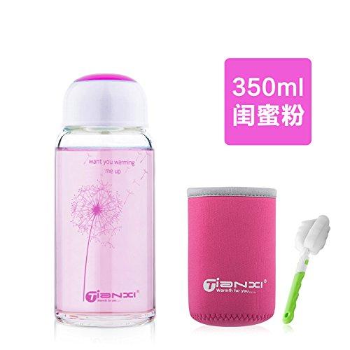 LKJH*El Cristal portátil Corea adorable botella de agua de tormenta c