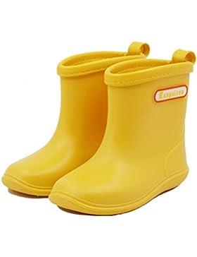Niños Niñas Botas de lluvia para Niños Botas de Agua Bebé Botas a Prueba de Agua Snow Boots Rubber Zapatos