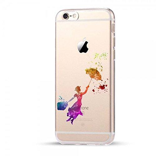 Disney Mary Poppins Schutzhülle Appel Iphone Serie TPU transparent Silikon Case Appel Iphone Cartoon Hülle -AcAccessoires #0067 (Iphone X)