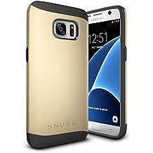 Funda Galaxy S7, Snugg Samsung Galaxy S7 Case Slim Carcasa de Doble Capa [Infinity Series] Revestimiento con Protección Anti-Golpes – Oro