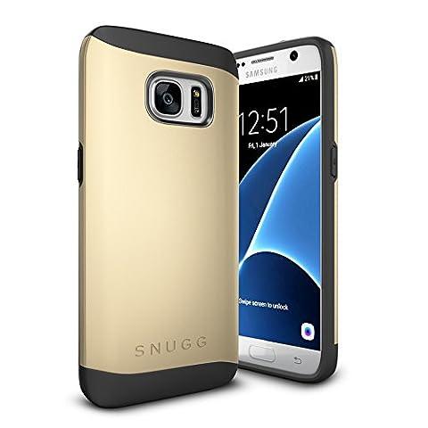 Coque Galaxy S7, Snugg Samsung Galaxy S7 Double Couche Case Housse Silicone [Bouclier Légère] Etui de Protection – Or, Infinity Series