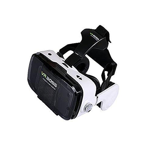 VR Brille 3D VR Headset 3D VR Brille Virtuelle Realität Headset Virtual Reality Brille Headset 3D Virtual Reality Brille 3D VR Glasses VR Google Brille + MIT Mikrofon , für 4.0 - 6.0 Zoll Bildschirm Smartphone Für Android und iPhone bis 6 Zoll