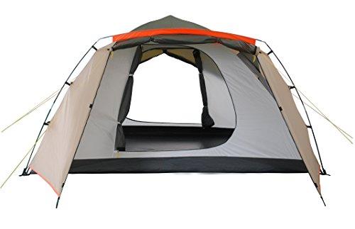 Lumaland Outdoor Pop up Familienzelt Wurfzelt 6 Personen Zelt Camping Festival Etc. 315 x 245 x 170 cm robust Grün - 2