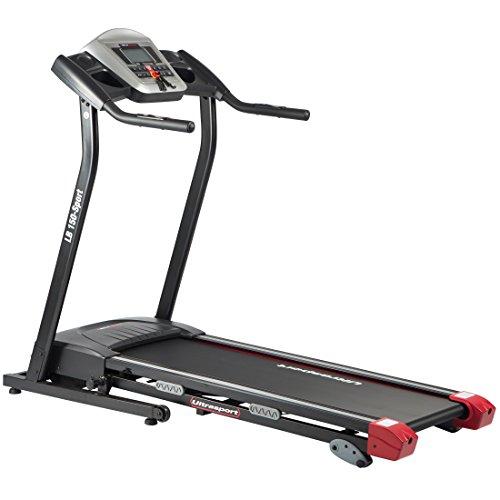 Ultrasport motorisches Laufband LB 150-Sport, elektrisch: Hometrainer klappbar, mit Dämpfungssystem, Geschwindigkeit bis 16 km/h, belastbar bis 110 kg