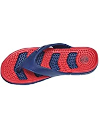 4893f9758c4 APL Men s Health Blue and Red Flip Flops and House Slippers (Max Health)