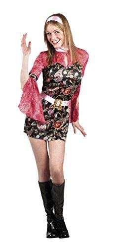 Karnevalsbud - Damen Kostüm Party Chick, Minikleid, azteken Muster, Mehrfarbig, Größe (Muster Kostüm Tanz Moderne)