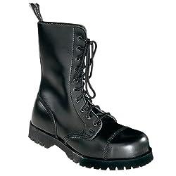 Boots & Braces - 10 Loch Stiefel Rangers Schwarz Größe 43 (UK9)