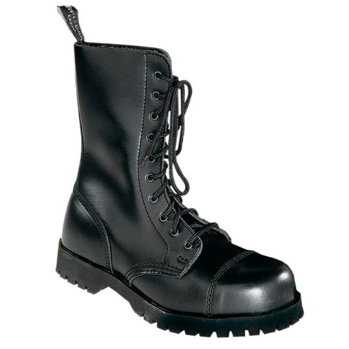 Boots & Braces - 10 Loch Stiefel Rangers Schwarz Größe 46 (UK12)