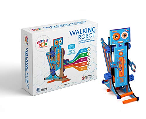 Genius Box Walking Robot Perfect Educational Activity DIY Kit|Toy|Stem Project Designed for Age 7+ Young Inventors