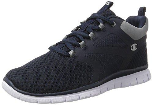 Champion Alphamid, Chaussures de Running Compétition Homme Bleu (Gry/org - Navyblau)
