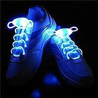 Bluelover Cordones Led Luz Noche hasta Cordón Luminoso Multicolor Muy Reducido De Seguridad-Azul