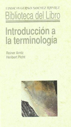 Introducción a la terminología por R. Arntz