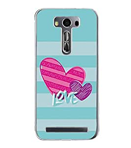 FUSON Valentine'S Day Love Card Designer Back Case Cover for Asus Zenfone 2 Laser ZE550KL (5.5 Inches)