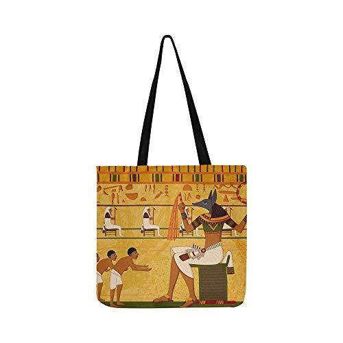 Einfach Bearbeiten SHAOKAO SHAOKAO Antike Ägyptische Leinwand Tote Handtasche Umhängetasche Crossbody Taschen Geldbörsen Für Männer Und Frauen Einkaufstasche