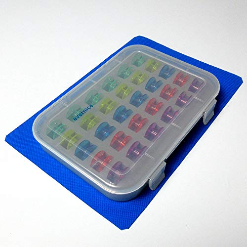 Spulenbox + 30 Farben Kunststoff Nähmaschine Spulen Singer 2518P Sa156