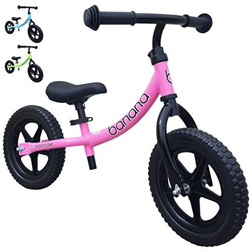 Banana Bike Leichtes Laufrad Lernlaufrad Kinderrad für 2, 3 und 4 Jahre alte Kinder LT (Rosa)