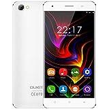 OUKITEL C5 Smartphone Libre 3G de 5.0''HD (FDD-LTE, Android 7.0, 5.0MP+2.0MP cámaras, 16GB ROM+ 2GB RAM, MTK6580 quad-core 1.3GHZ), blanco