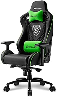 Sharkoon SGS4Black-Green Gaming Chair, Black & Green (Electronic Games)