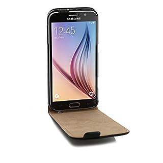 ArktisPRO Premium Ledertasche für Samsung Galaxy S6 schwarz