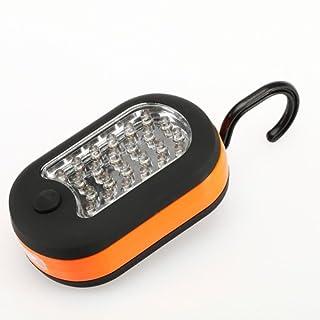 AMTOP Mini Camping Leuchte 27LEDs Haken zum Aufhängen Taschenlampe Magnet für Outdoor Wandern Angeln, Orange