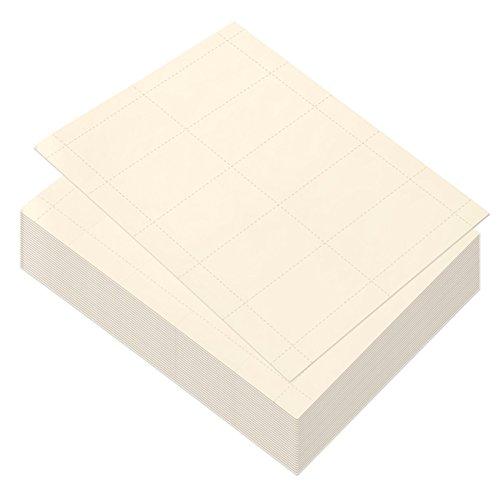 Best paper greetings carta bianco per biglietti da visita, 1000 carte per stampanti a getto d'inchiostro e laser (100 fogli) 3,5 x 1,9 pollici avorio