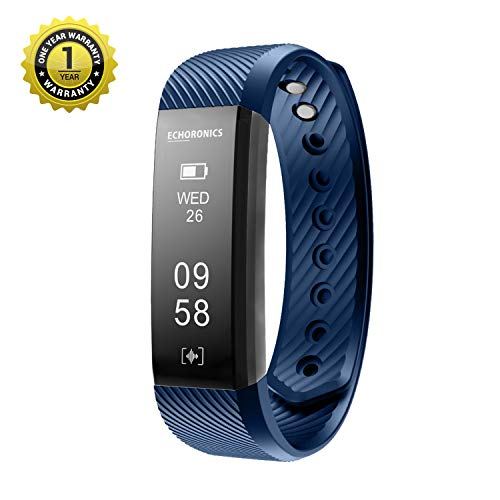 Mevofit Echo Dash HR Fitness Band & Smart Watch - Fitness Tracker Bands with Heart Rate for Men & Women | Echoronics by MEVO (Blue)