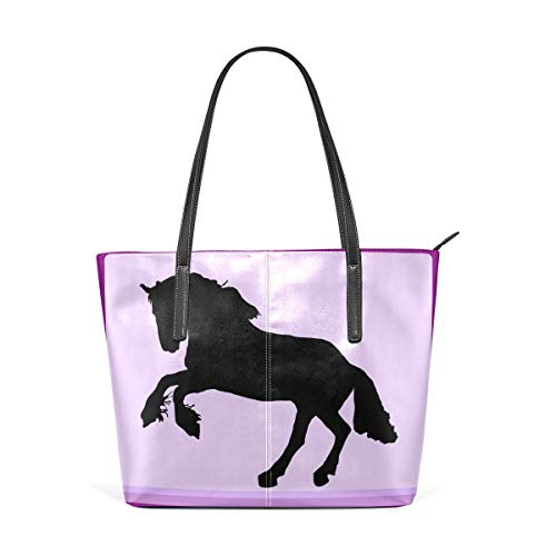 XGBags Custom Frauen Umhängetaschen Horse Decal Women's Tote Shoulder Bag Leather handbag (Frauen Handtaschen Jessica Simpson)