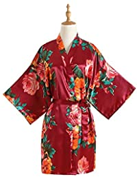 Forall-Ms Kimonos para Mujeres, Bata de baño de Lujo Corto, camisón de