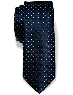 Corbata de microfibra fina con puntitos para hombres de Retreez