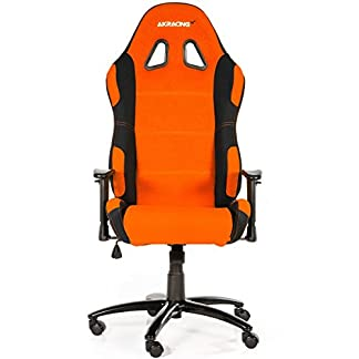 AK Racing 7018 – Silla para Gaming, color negro y naranja