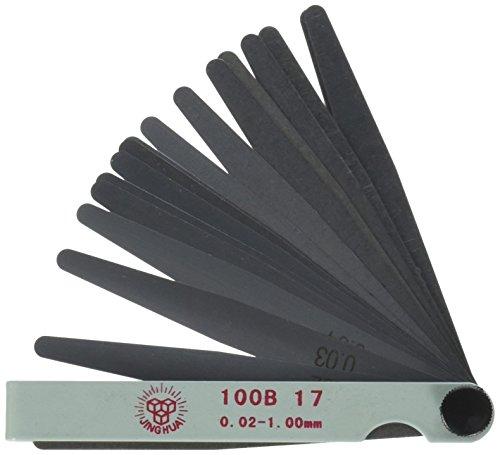 Preisvergleich Produktbild 17 in 1 Spaltmaß Fühlerlehre Blätter 0.02-1mm Werkzeug de