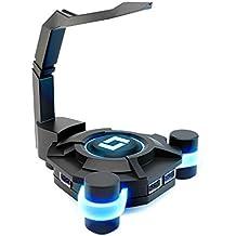 Lioncast MB10 Maus Bungee mit USB-Hub und Blue Light-Technologie (4x USB 2.0) Schwarz