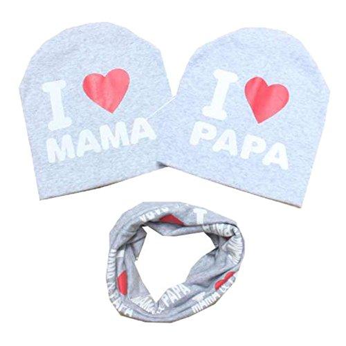 Patgoal Hankyky Baby Mütze O-Ring Schal Jungen Mädchen Kleinkinder Schal Kind Schal Hüte Mützen (3er Pack B8)