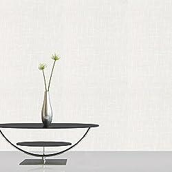 Superfresco Paintable Weave Durable Heavy Duty White Wallpaper