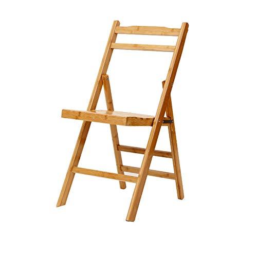 Home Decoration-G.TZ Chaises Pliantes en Bois-Chaise De Bureau/Chaise De Bureau-Chaise De Salle À Manger en Bambou -Dimensions: 78 * 38 * 45Cm (Couleur Bois)