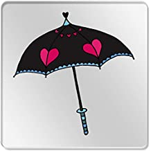 Azeeda 6 x Paraguas del Corazón 95mm Cuadrado Acrílico Transparente Posavasos ...
