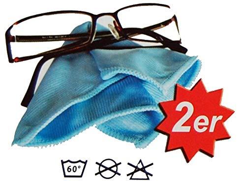 Brillenputztuch aus Microfaser Brillentuch Microfasertuch Reinigungstuch für Brillen, Displays, Bildschirm, Helmvisier, Laptop, Handy etc. Brillenputztücher 15 x 20 cm Blau 2 Brillentücher