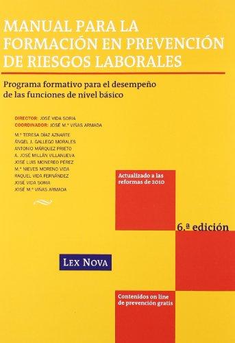 Manual para la formación en prevención de riesgos laborales (Monografía)