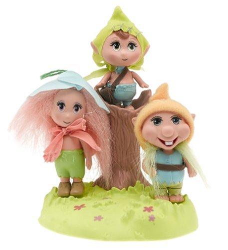 "Barbie Fairytopia Trolls - 3"" Troll Dolls - Peeble & Patter & Phred"