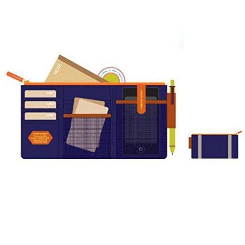 myfei Multi-Funktion Automarke Sonnenschutz Board Storage Arrangement Tasche, automatisch auto Sonne Visier Clip Sun Visor Organizer Halter Aufbewahrungstasche (Clip Magnetische Leder Geld Portemonnaie)