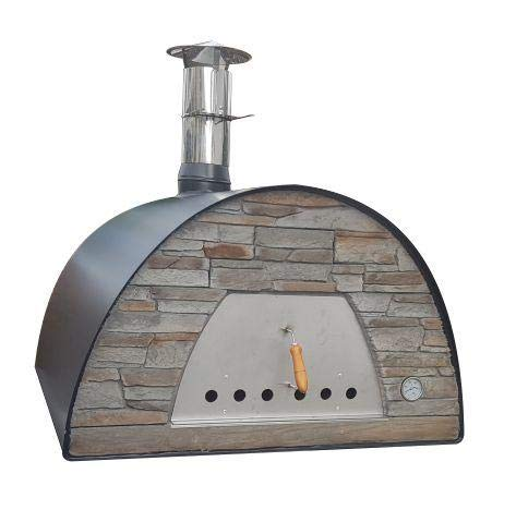 Maximus Prime Black Commercial Wood-Fired Bread, Meat, Pizza Fish Outdoor Oven Real Wood Real Flavor Escape The Indoors TM