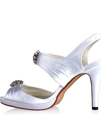 ShangYi Schuh Damen - Hochzeitsschuhe - Fersenriemen - Sandalen - Hochzeit - Blau / Rot / Elfenbein / Weiß White