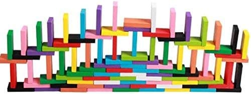 Syga Wooden Standard Compitition Domino Early Educational Toys, 12 colours - 120 Pieces