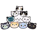 Unigift 10 Pcs Cartoon Cat with Different Expressions Badges Acrylic Brooch Pin for Girls Kids Clothes Bags Backpacks Hat Jacket Decoration Gift