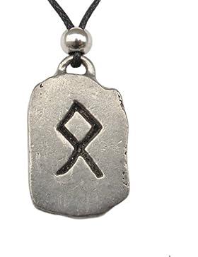 Odal Rune Anhänger Amulett Talisman Zinn Schmuck - Heimstatt